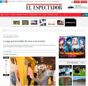 imagen muestra foto de pantalla del diario El Espectador de Colombia