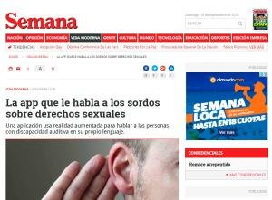 iagen muestra pantalla de la revista Semanario de Colombia